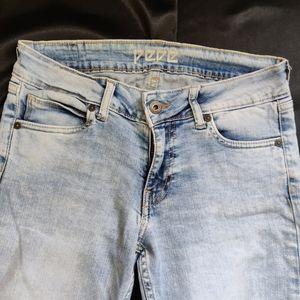 Pepe jeans Lola Fit Ankle-Length Stretchable Jeans (Acid wash Blue)